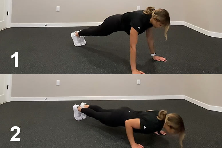 Peforming a push-up